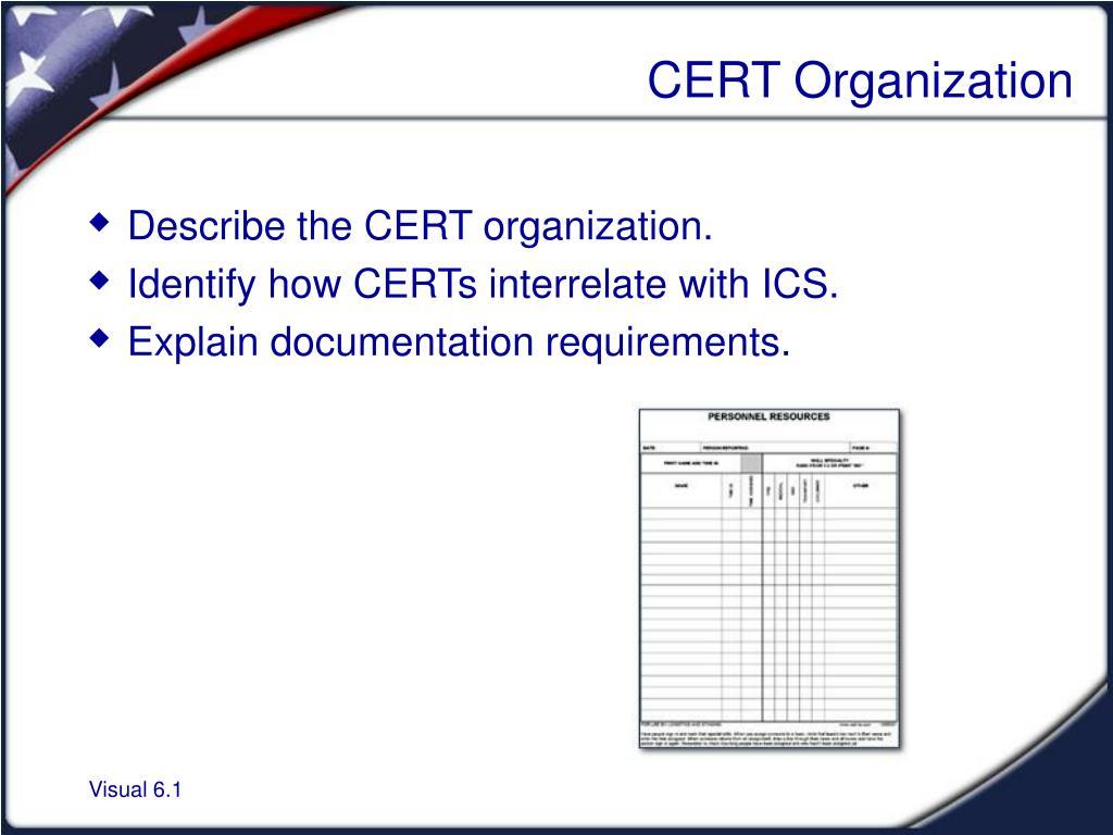 ppt cert organization powerpoint presentation id 885502