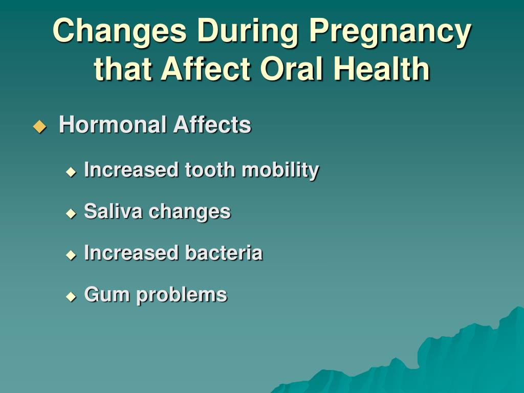 Changes During Pregnancy that Affect Oral Health