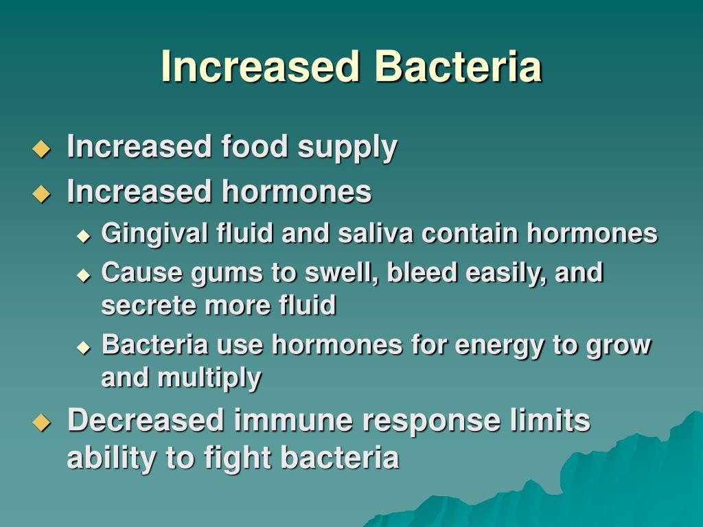 Increased Bacteria