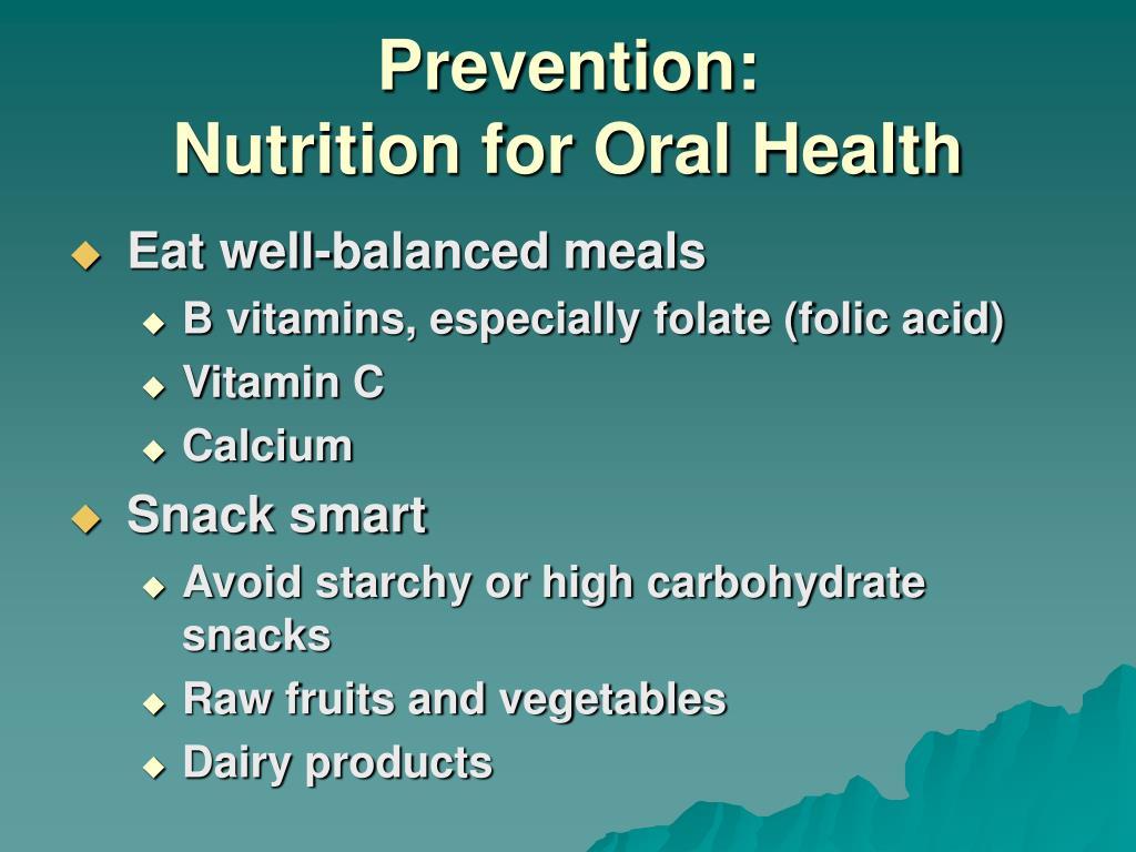 Prevention: