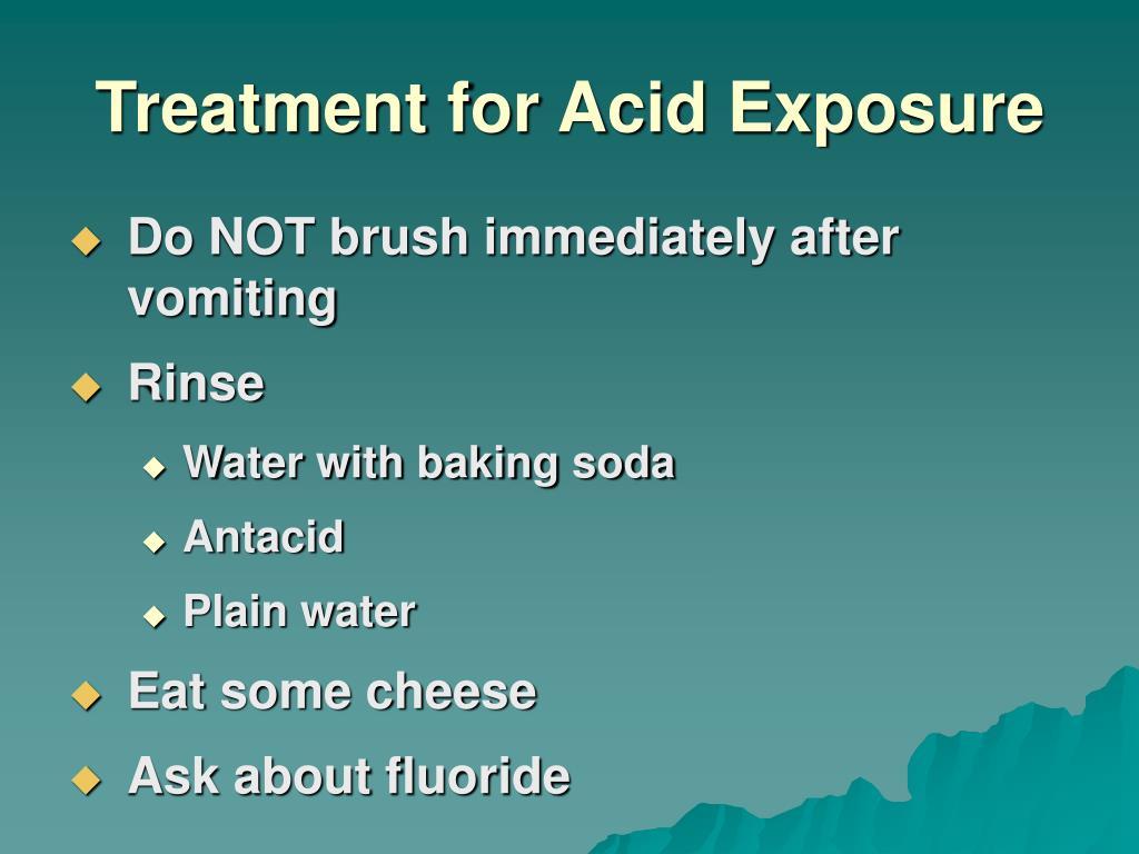 Treatment for Acid Exposure
