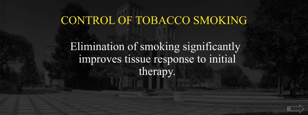 CONTROL OF TOBACCO SMOKING