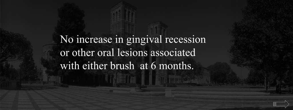 No increase in gingival recession