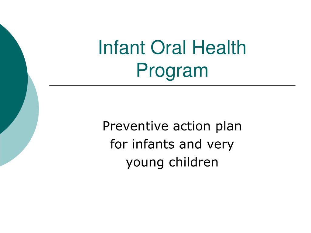 infant oral health program l.