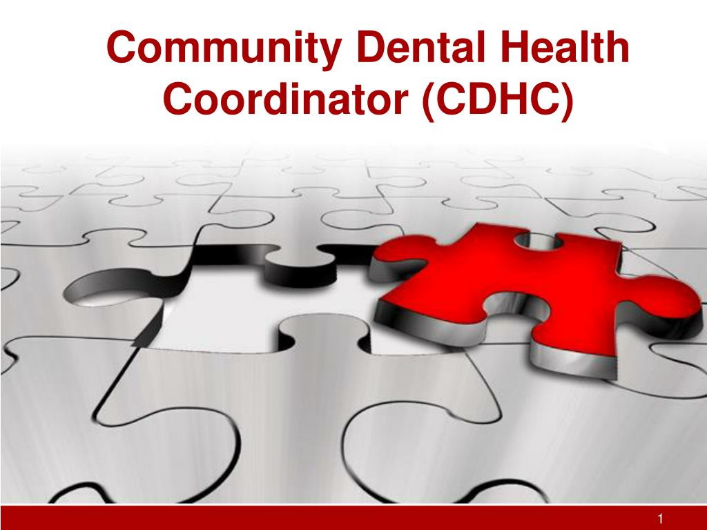 community dental health coordinator cdhc