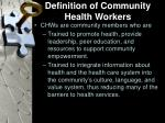 definition of community health workers
