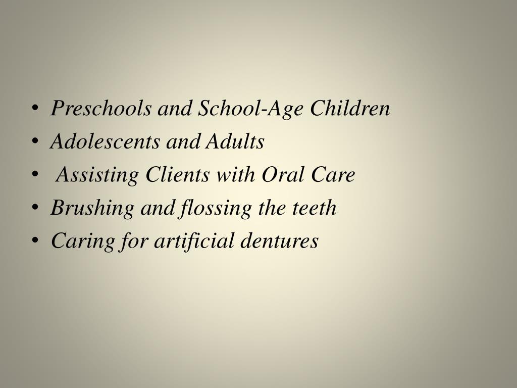 Preschools and School-Age Children