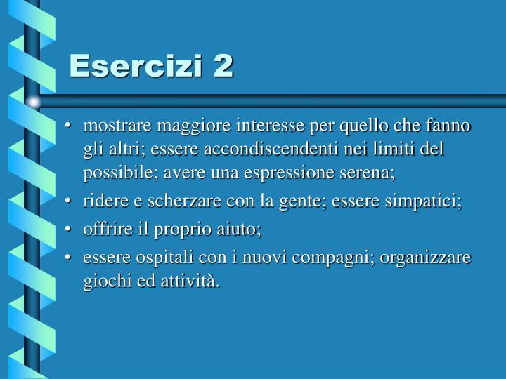 Esercizi 2