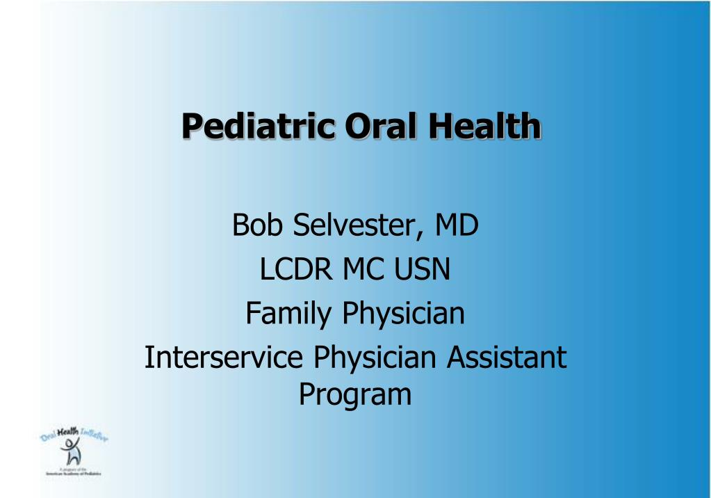 pediatric oral health l.