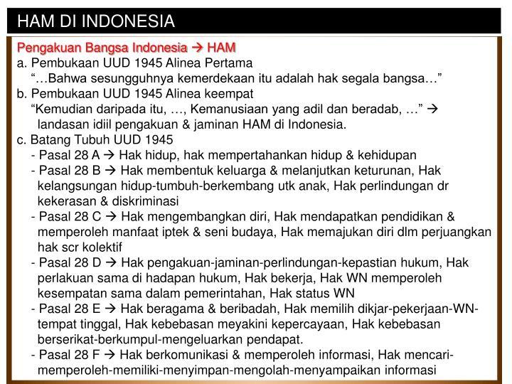 HAM DI INDONESIA