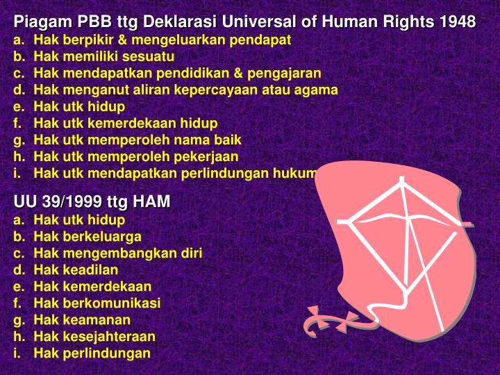 Piagam PBB ttg Deklarasi