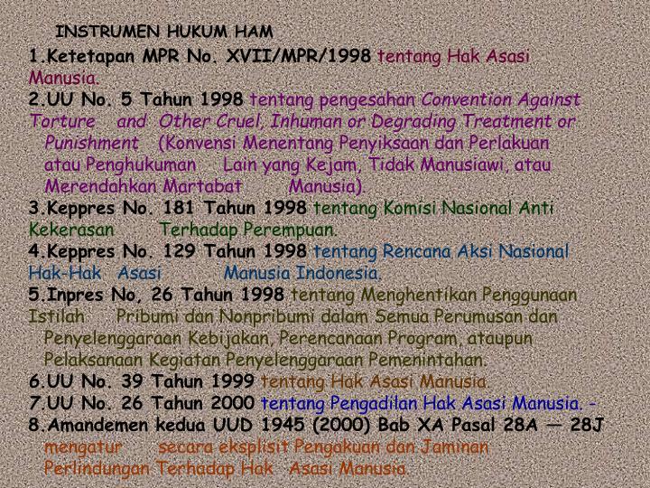 INSTRUMEN HUKUM HAM