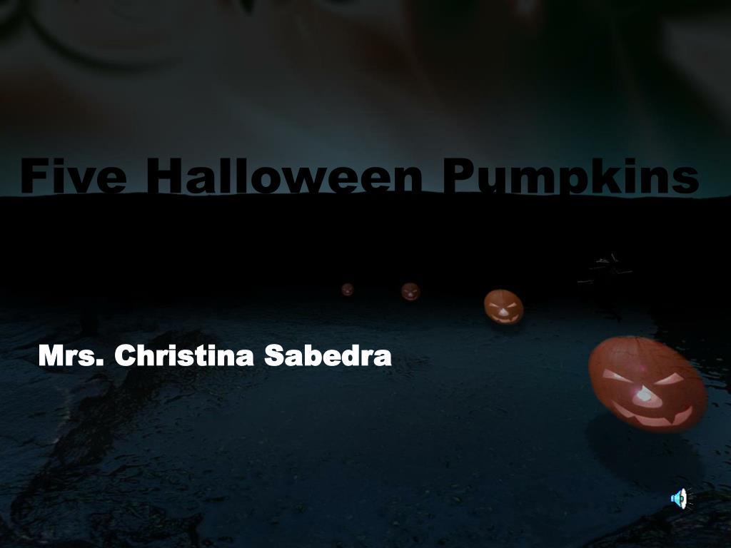 five halloween pumpkins l.