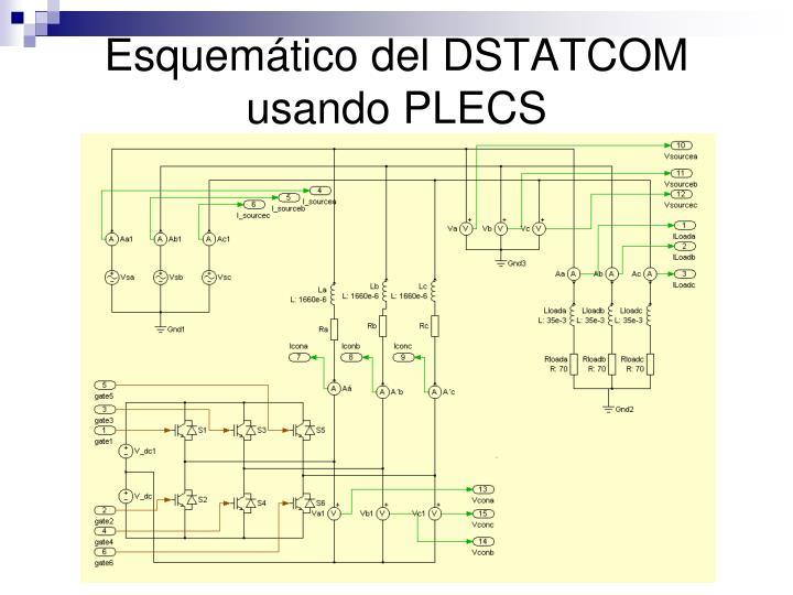 Esquemático del DSTATCOM usando PLECS