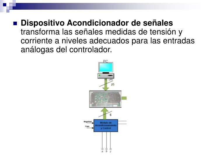 Dispositivo Acondicionador de señales