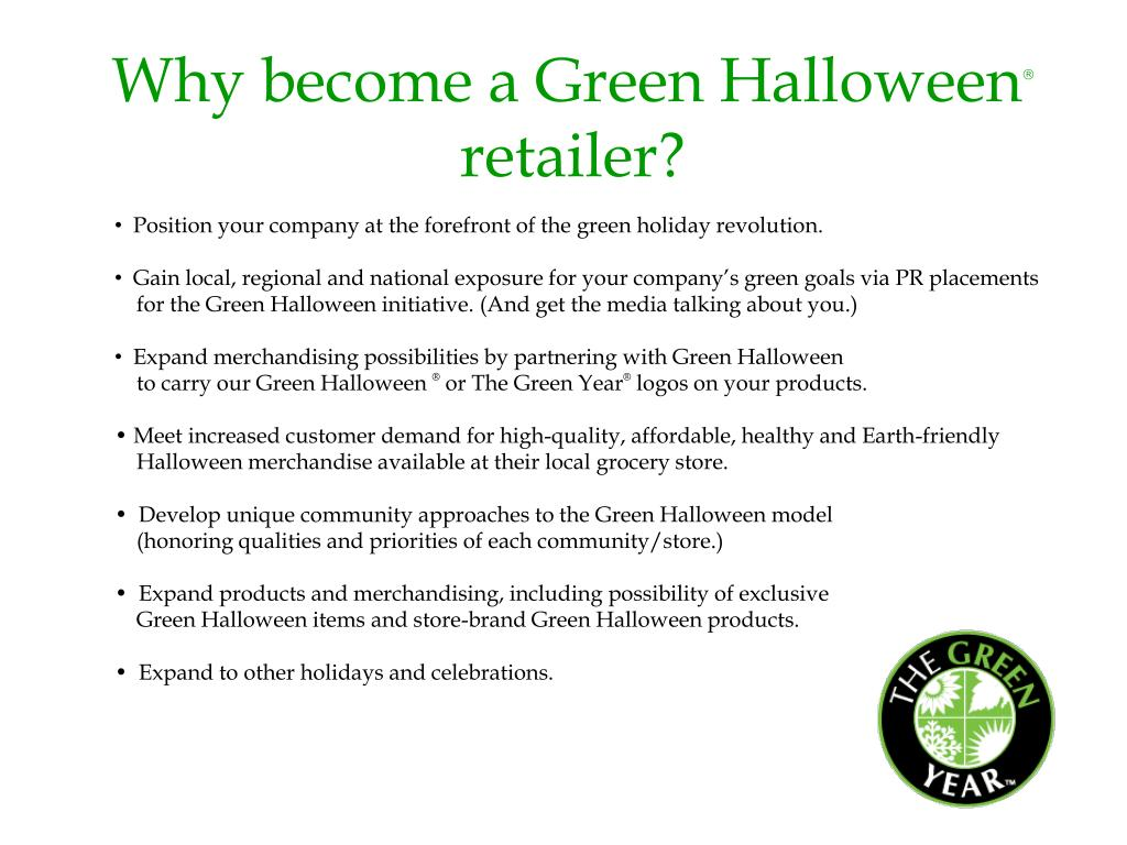 Why become a Green Halloween