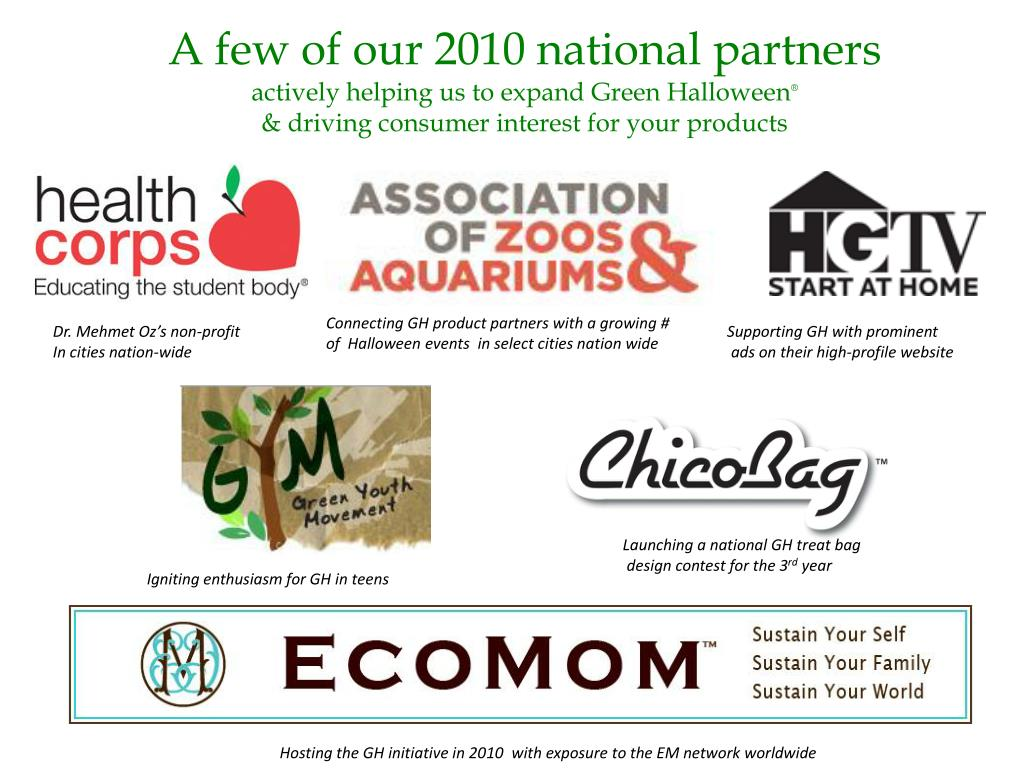 A few of our 2010 national partners