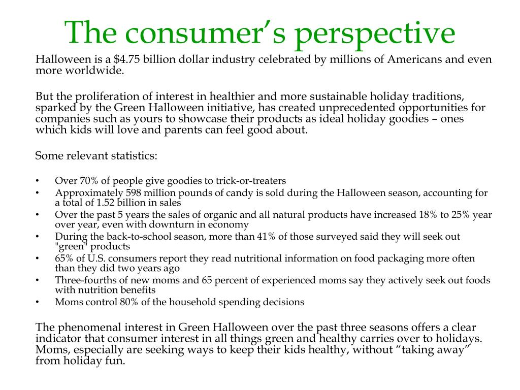 The consumer's perspective