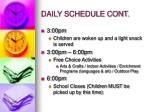 daily schedule cont6
