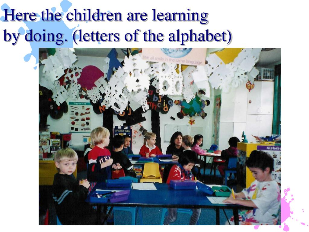 Here the children are learning