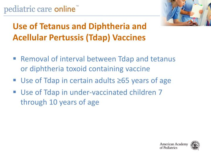 Use of Tetanus and Diphtheria and