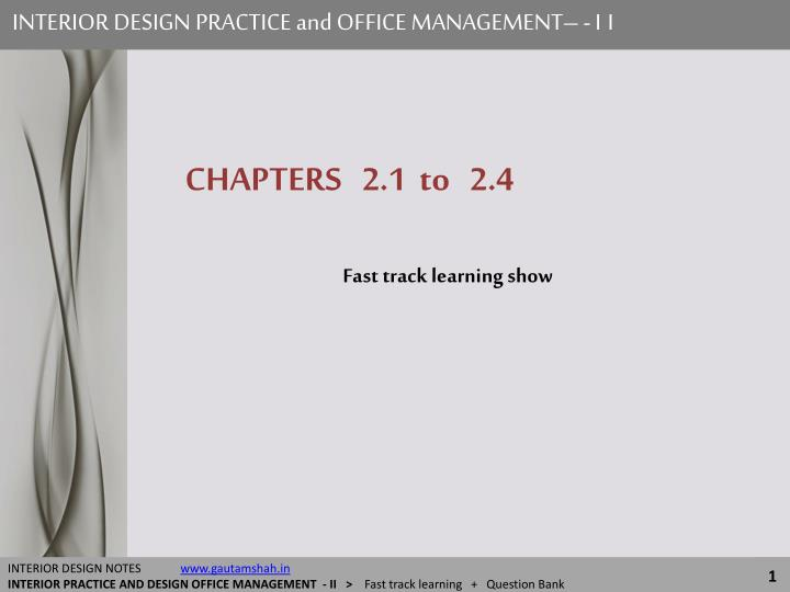 interior design practice and office management ii n.