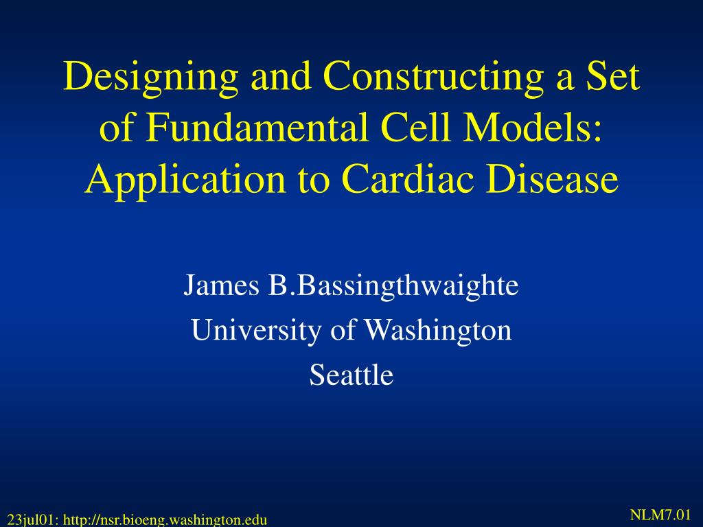 designing and constructing a set of fundamental cell models application to cardiac disease l.