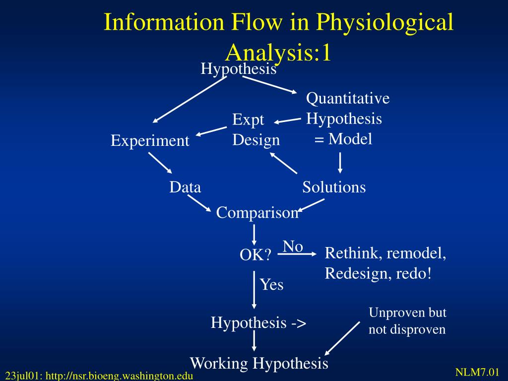 Information Flow in Physiological Analysis:1