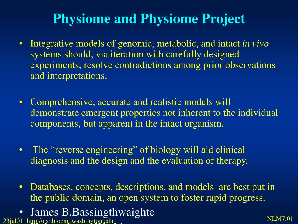 Physiome and Physiome Project
