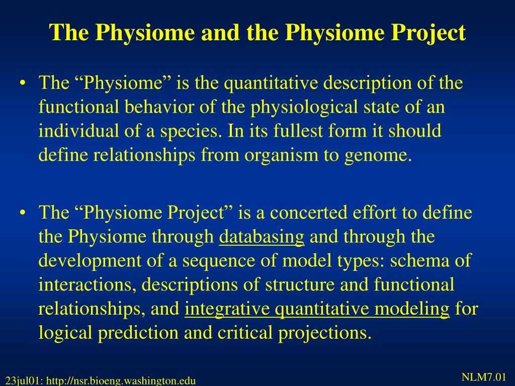 The Physiome and the Physiome Project