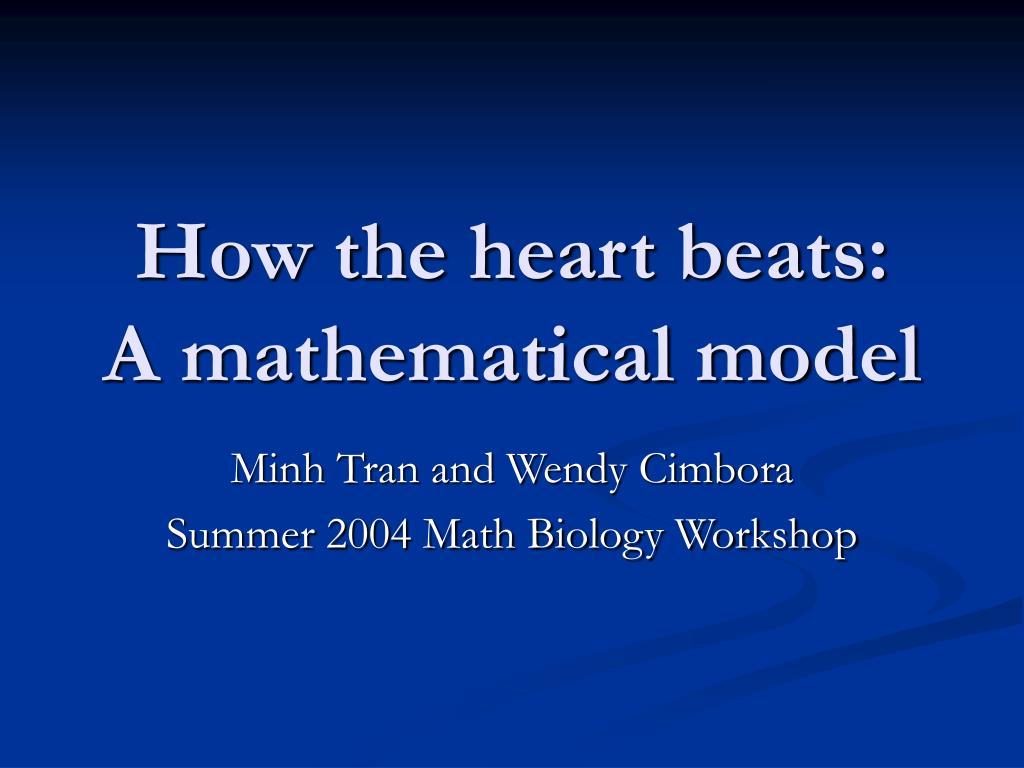 how the heart beats a mathematical model l.