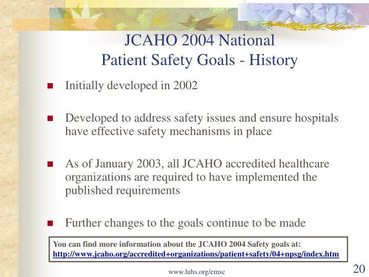 JCAHO 2004 National