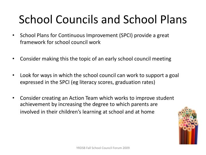 School Councils and School Plans