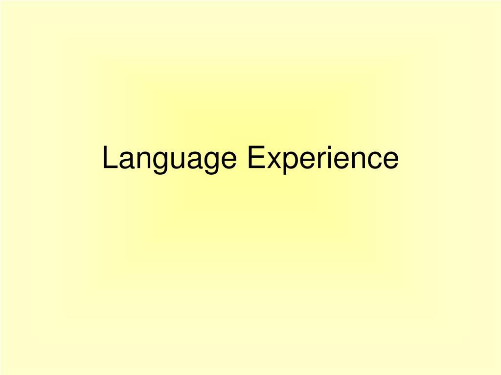 language experience l.