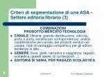 criteri di segmentazione di una asa settore editoria librario 3