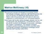matrice mckinsey 10