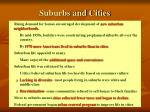 suburbs and cities