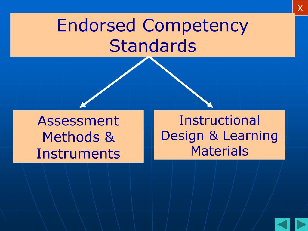 Endorsed Competency Standards