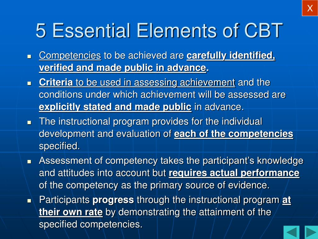 5 Essential Elements of CBT