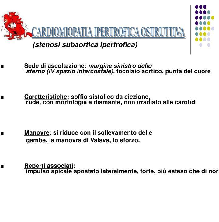 CARDIOMIOPATIA IPERTROFICA OSTRUTTIVA
