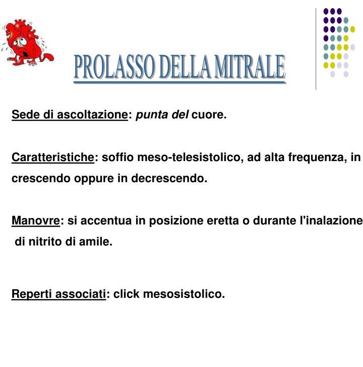 PROLASSO DELLA MITRALE