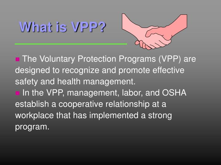 oshas voluntary self audit policy A new proposed policy on osha use of employer self-audits does not dispel the legal cloud that magazine article occupational hazards is osha serious about encouraging voluntary self-audits by yohay, stephen c.