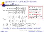 equations for modified hill coefficients k hbo2 and k hbco2