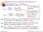 equations for o 2 and co 2 saturations of hemoglobin s hbo2 and s hbco2