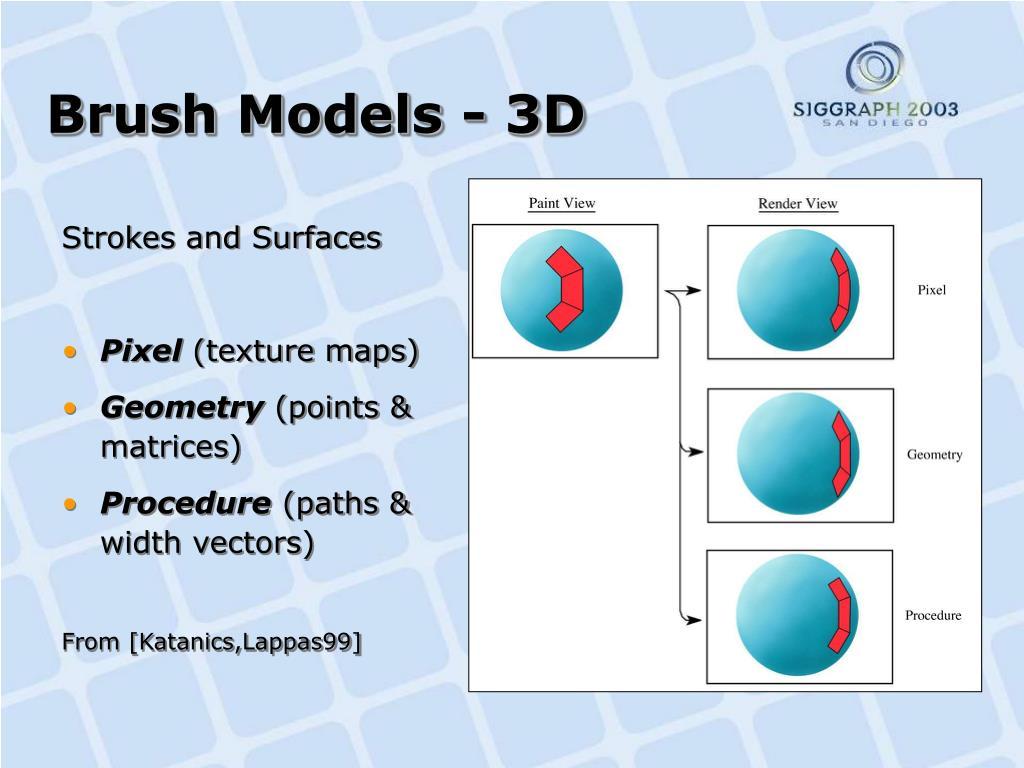 Brush Models - 3D