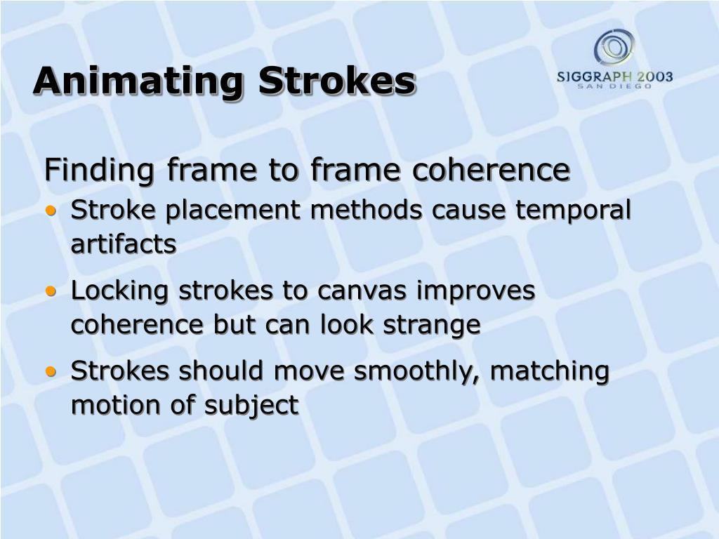 Animating Strokes