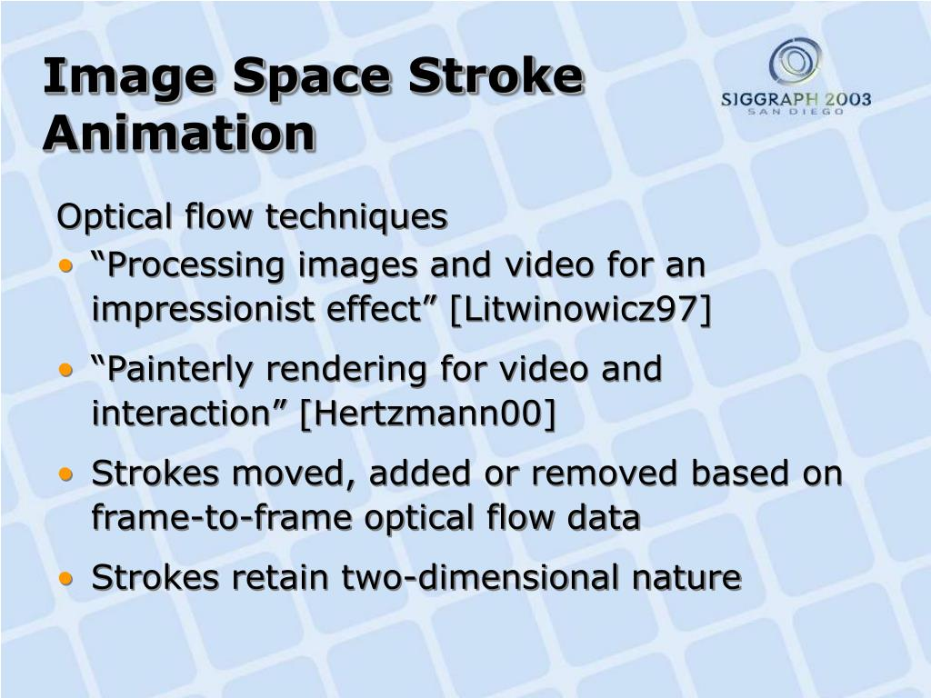 Image Space Stroke Animation