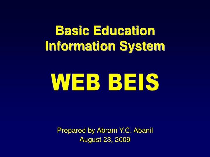 PPT Basic Education Information System PowerPoint