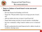 financial aid task force recommendations