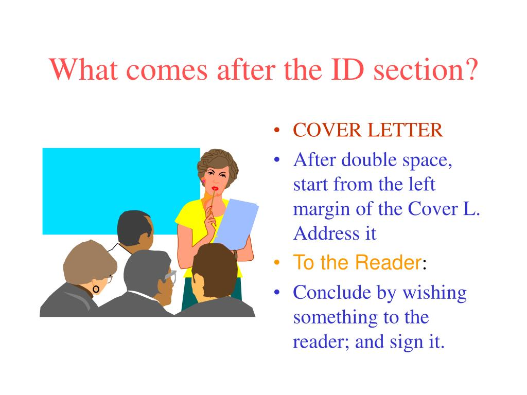 What comes after the ID section?